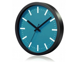 Hliníkové nástěnné hodiny FRENCH s tichým chodem ručiček - tyrkysová