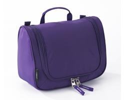 Extra lehká kosmetická taška THOMPSONVILLE II s integrovaným háčkem - fialová