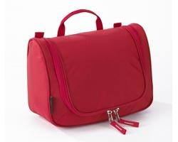 Extra lehká kosmetická taška THOMPSONVILLE II s integrovaným háčkem - červená