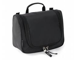 Nylonová kosmetická taška THOMPSONVILLE s integrovaným háčkem - černá
