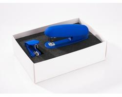 Plastová sada kancelářských potřeb OFITE II, se 2 doplňky - modrá