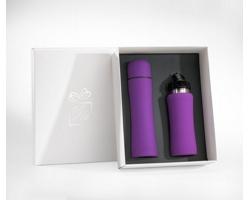 Praktická sada termosky a lahve na vodu SCUPS v dárkové krabičce - fialová