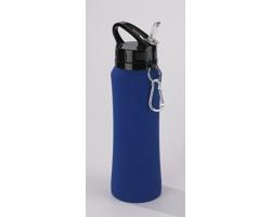 Nerezová cestovní láhev na vodu CARDAN s karabinou, 700 ml - tmavě modrá