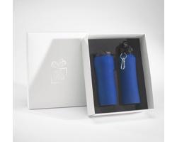 Sada láhve na pití a termohrnku BROAD v dárkové krabičce - tmavě modrá