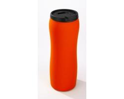 Nerezový termohrnek FRAY s protiskluzovou vrstvou, 450 ml - oranžová