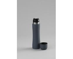 Kovová termoska KIMBRA s dvojitou stěnou, 500 ml - šedá