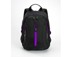 Kompaktní batoh JAILS s vysoce prodyšnými zády - fialová