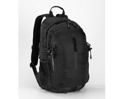 Polyesterový sportovní batoh TORPIDLY s prodyšnými zády - černá