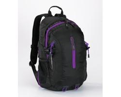 Polyesterový sportovní batoh TORPIDLY s prodyšnými zády - fialová