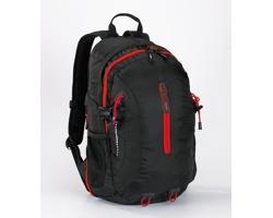 Polyesterový sportovní batoh TORPIDLY s prodyšnými zády - červená