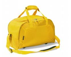 Polyesterová voděodolná sportovní taška VENIN s prostorem pro uložení obuvi - žlutá