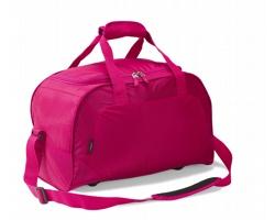Polyesterová voděodolná sportovní taška VENIN s prostorem pro uložení obuvi - růžová