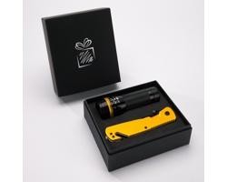 Sada bezpečnostního multinástroje a LED svítilny MADISON - žlutá