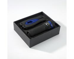 Sada multifunkčního nástroje a baterky GOOFS se silikonovým povrchem - modrá