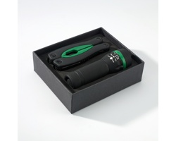 Sada multifunkčního nástroje a baterky GOOFS se silikonovým povrchem - zelená