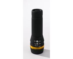Hliníková vysoce kvalitní LED svítilna EMMYS s pogumovaným úchopem - žlutá