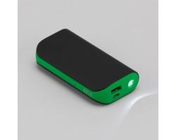 Výkonná powerbanka DIALS se silikonovou úpravou - zelená