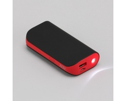 Výkonná powerbanka DIALS se silikonovou úpravou - červená