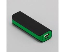 Plastová powerbanka RUBITA s LED indikátorem stavu dobití - zelená