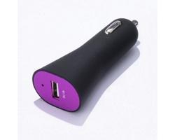 Plastová autonabíječka KITES s rychlým přenosem energie - fialová