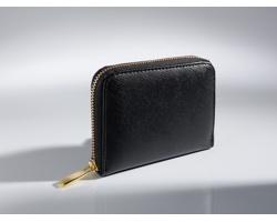 Kožená dámská peněženka JOSIE dekorovaná 18karátovým zlatem - černá