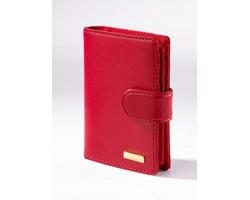 Kožená dámská peněženka LILIANA dekorovaná 18karátovým zlatem - červená