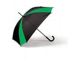 Automatický dvoubarevný deštník WAYS s pogumovanou rukojetí - zelená