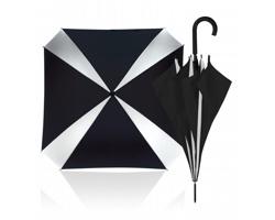 Osmipanelový automatický deštník CANITAS čtvercového tvaru - černá