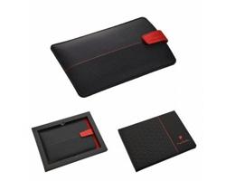 Značkový obal na smartphone Pierre Cardin BIENVENUE III - černá / červená