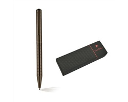 Značkové kovové kuličkové pero Pierre Cardin ESPACE - šedá gunmetal