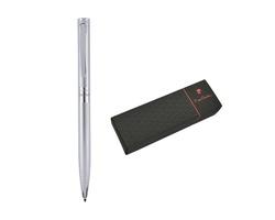 Značkové kovové kuličkové pero Pierre Cardin RENEE II - stříbrná
