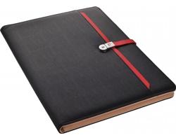 Značkové konferenční desky Pierre Cardin DIMITRO v luxusním balení - černá / červená