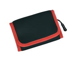 Značková neoprenová outdoorová peněženka Schwarzwolf COIN - červená