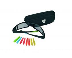 Značkové sluneční brýle Schwarzwolf DARK s vyměnitelnými barevnými kryty nožiček - černá