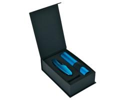 Značková sada LED svítilny a multifunkčního nářadí Schwarzwolf ALBERO, s 11 doplňky - modrá
