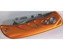 Značkový nerezový kapesní nůž Schwarzwolf CORTAR v pouzdře - světle oranžová