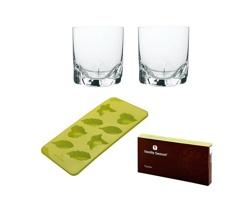 Značková sada formiček na led a skleniček na whisky Bohemia Crystal Vanilla Season TULUFAN ICE SET - zelená