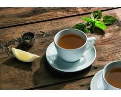Značková sada porcelánových šálků na čaj Vanilla Season TRIPURA II, 2 ks - bílá