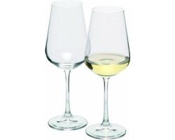 Značková sada sklenic na bílé víno Bohemia Crystal Vanilla Season MORETON 2, 250 ml - transparentní