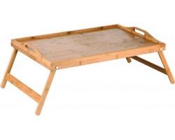 Značkový bambusový snídaňový stolek Vanilla Season ABELA - hnědá