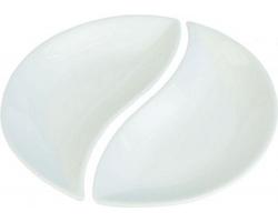 Značková sada porcelánových servírovacích misek Vanilla Season MOTRIL, 2 doplňly - bílá