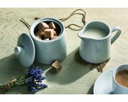 Značková porcelánová sada cukřenky a mléčenky Vanilla Season LAKADIVY - bílá