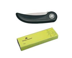 Značkový skládací keramický kuchyňský nůž Vanilla Season KISO - černá