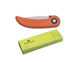 Značkový skládací keramický kuchyňský nůž Vanilla Season KISO - oranžová