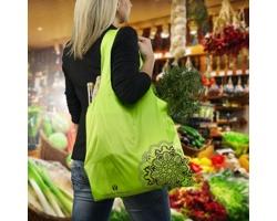 Značková skládací nákupní taška Vanilla Season BATNA s dekorem mandaly - světle zelená