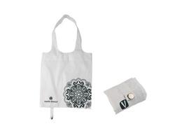 Značková skládací nákupní taška Vanilla Season BATNA s dekorem mandaly - bílá