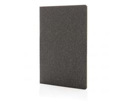 Tenký poznámkový blok MARSHA s měkkou vazbou, A5 - černá