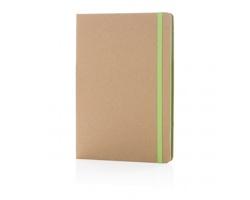 Ekologický poznámkový blok PULPS s listy z recyklovaného papíru, formát A5 - zelená