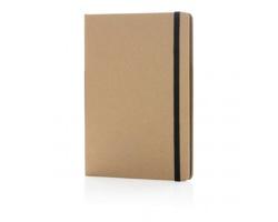 Ekologický poznámkový blok PULPS s listy z recyklovaného papíru, formát A5 - černá