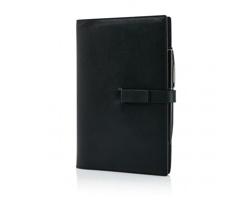 Manažerský zápisník WESTVILLE s 8GB USB a kuličkovým perem se stylusem, formát A5 - černá